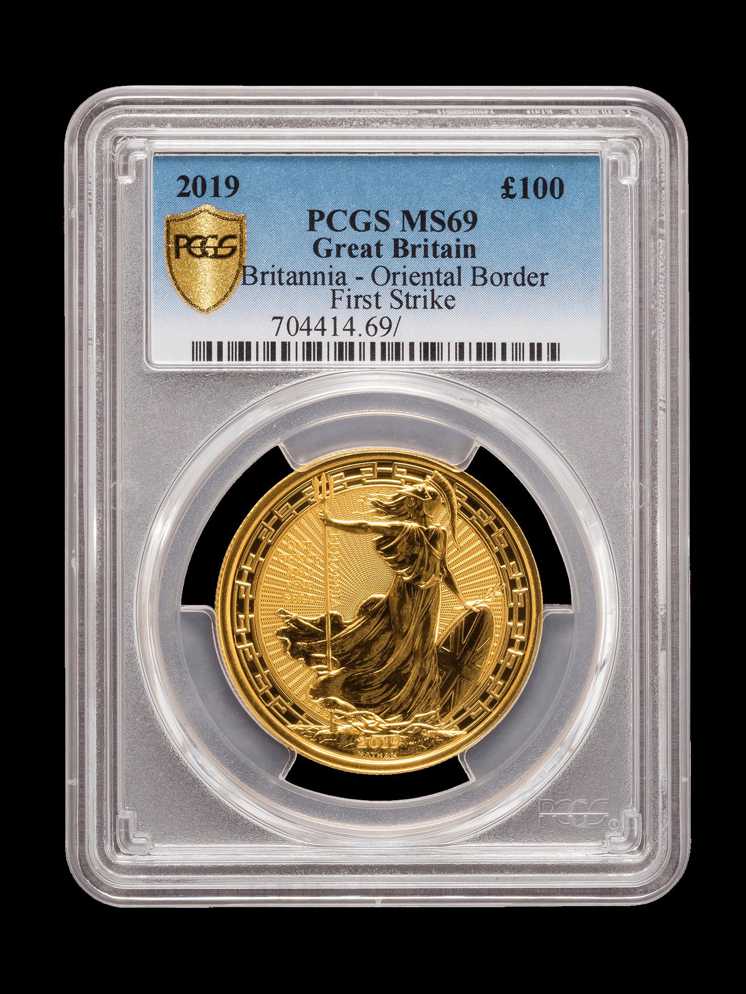 Picture of PCGS 2019 1oz Gold Britannia Oriental Border MS69