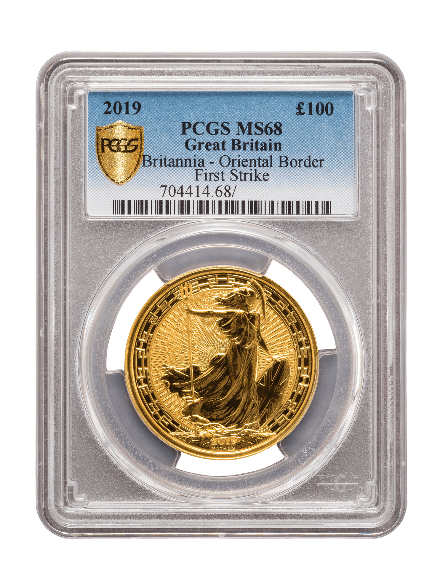 Picture of PCGS 2019 1oz Gold Britannia Oriental Border MS68