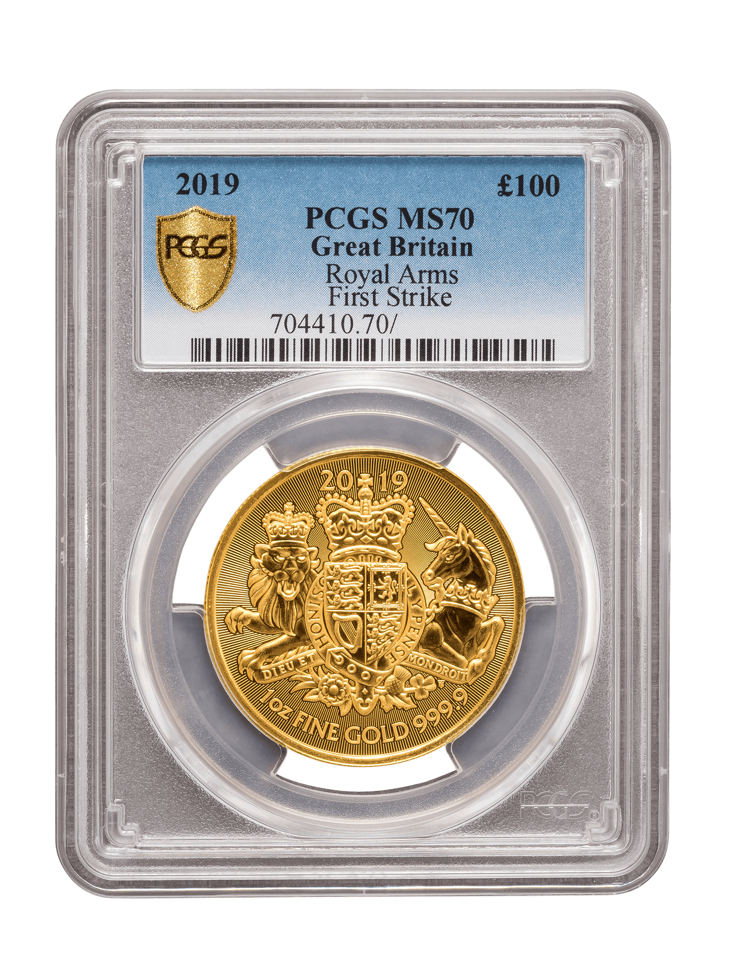 Picture of PCGS 2019 1oz Gold Coat of Arms MS70