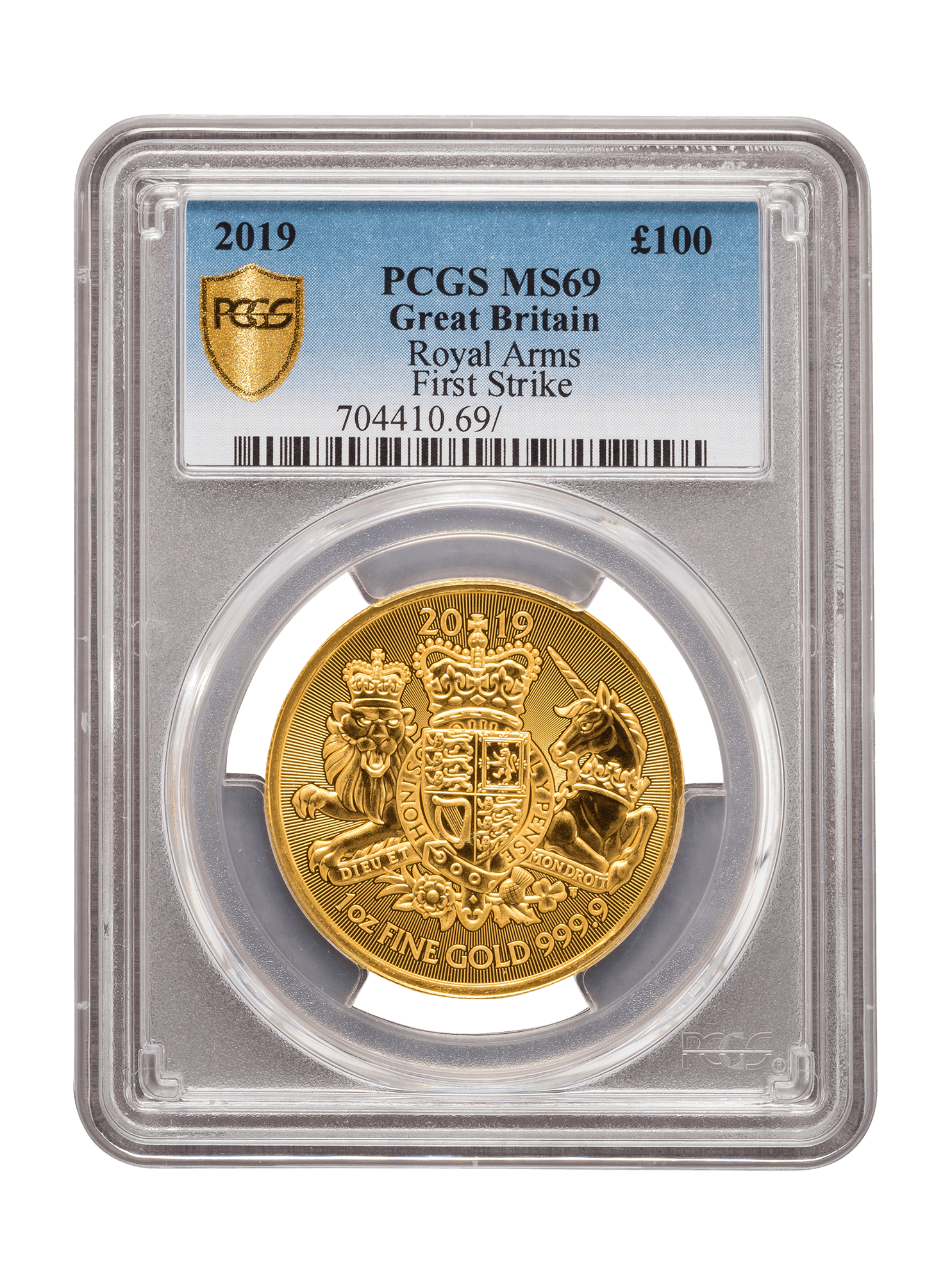 Picture of PCGS 2019 1oz Gold Coat of Arms MS69