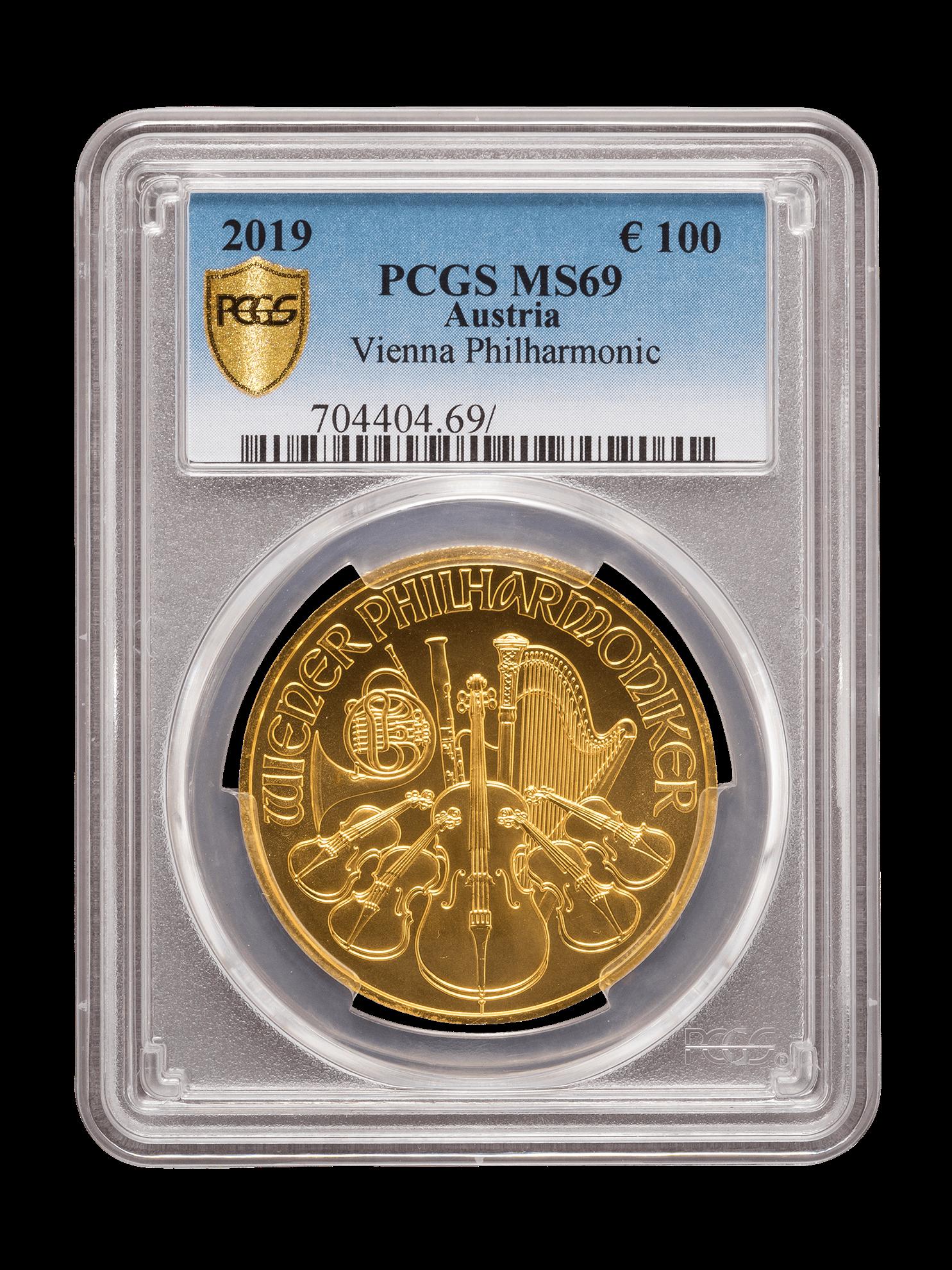 Picture of PCGS 2019 1oz Gold Austrian Philharmonic MS69