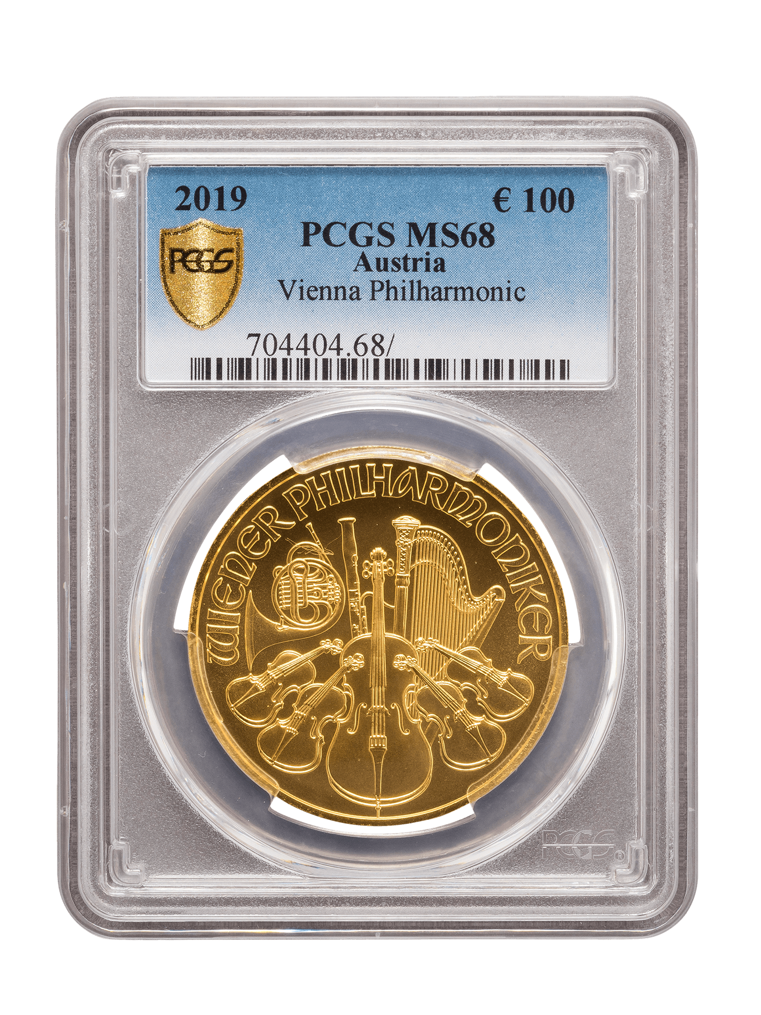 Picture of PCGS 2019 1oz Gold Austrian Philharmonic MS68