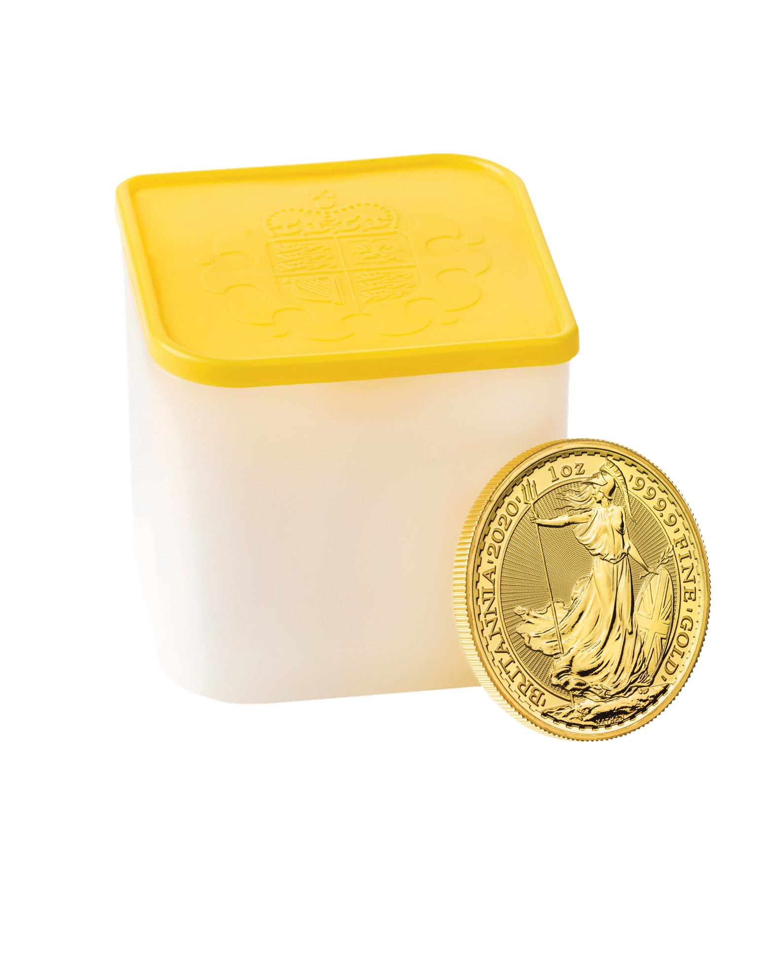 Picture of 10x 2020 1oz 24k Gold UK Britannia's in a Tube