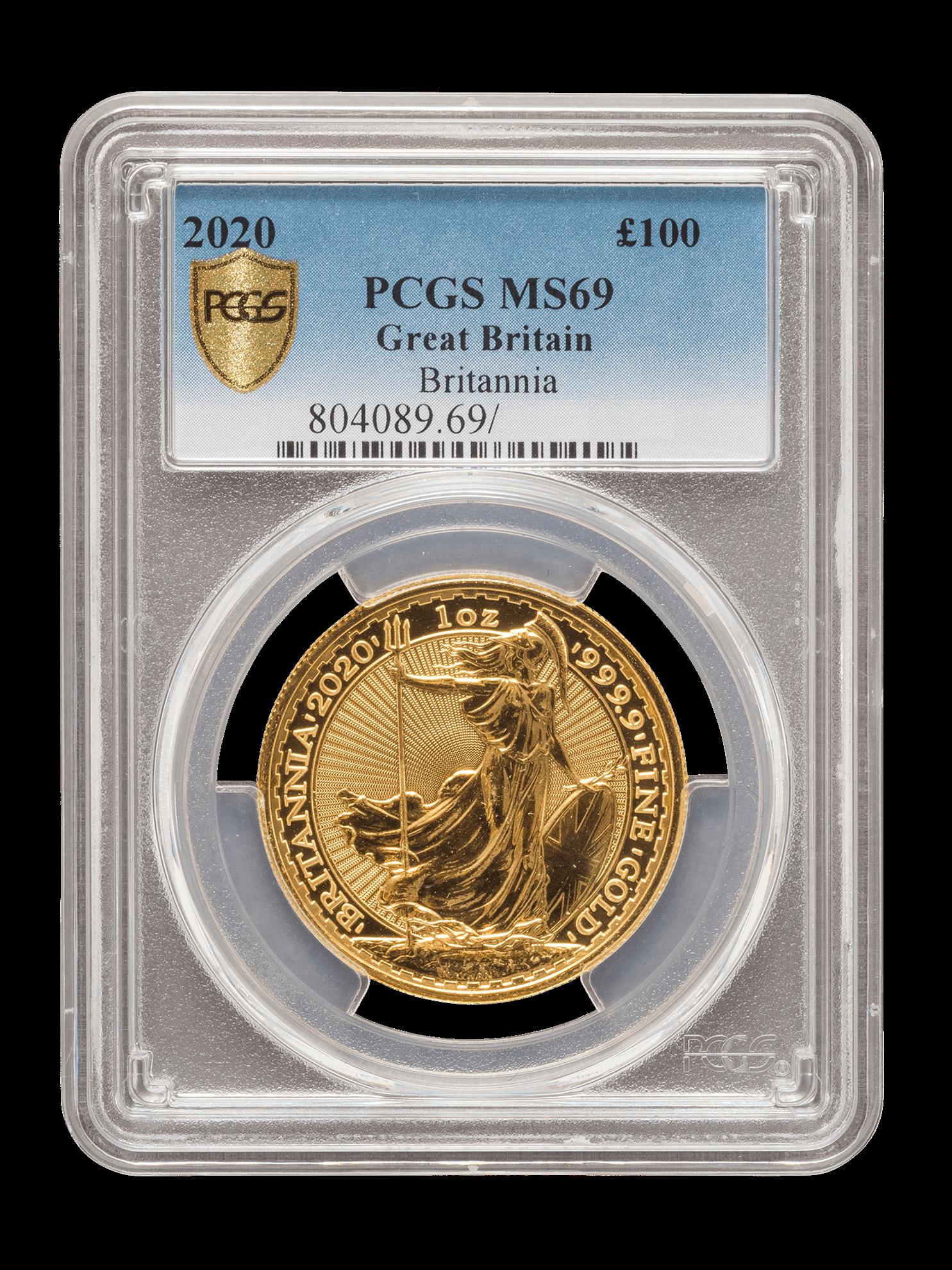 Picture of PCGS 2020 1oz Gold Britannia MS69