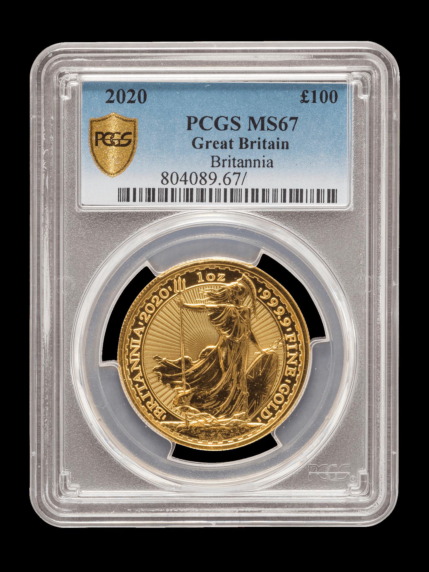 Picture of PCGS 2020 1oz Gold Britannia MS67