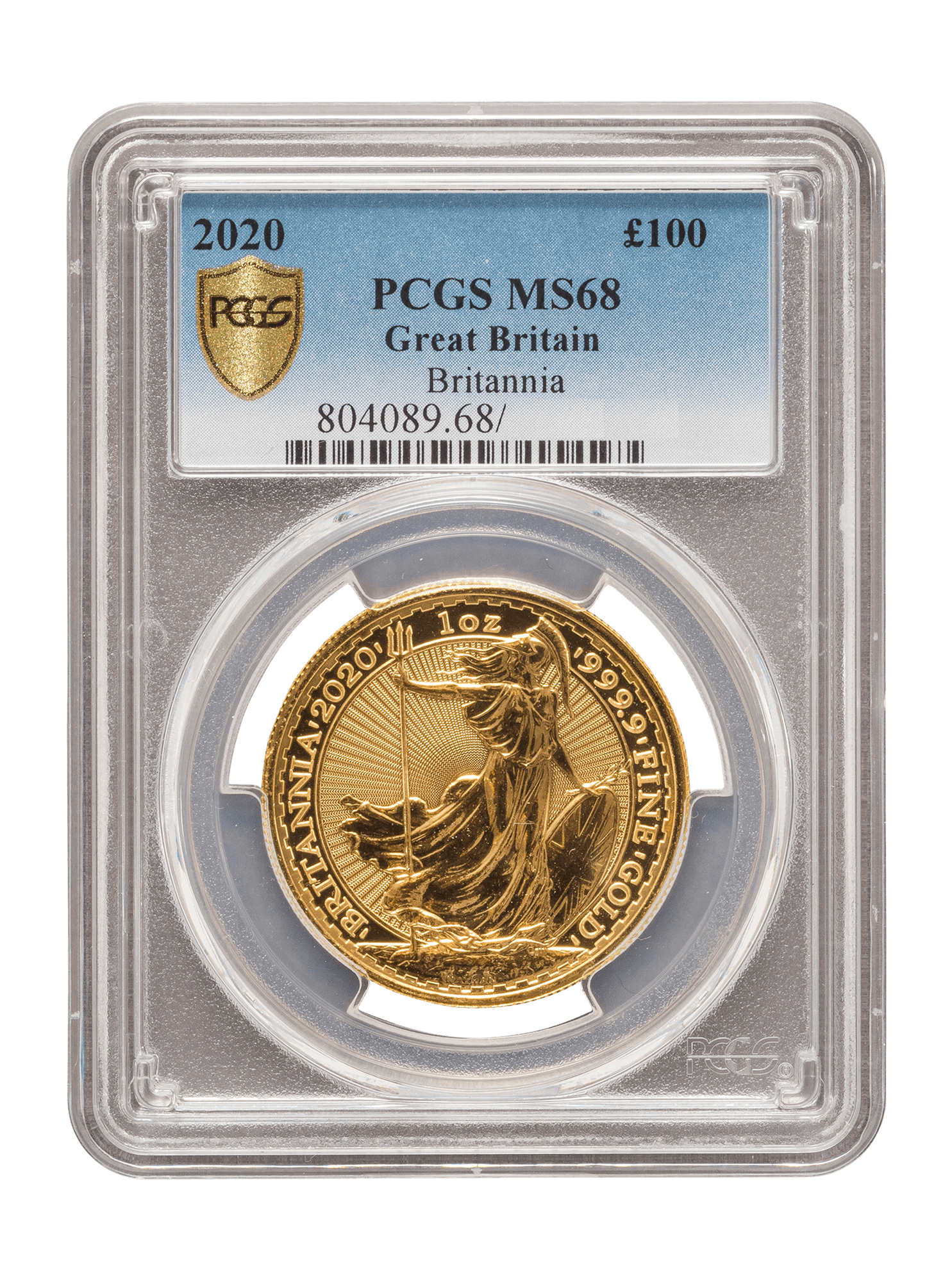 Picture of PCGS 2020 1oz Gold Britannia MS68