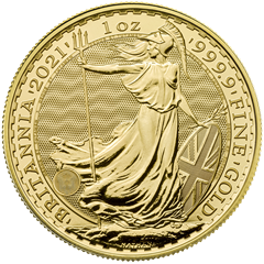 Picture of 2021 1oz 24k Gold UK Britannia