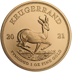 Picture of 2021 1oz 22k Gold South African Krugerrand