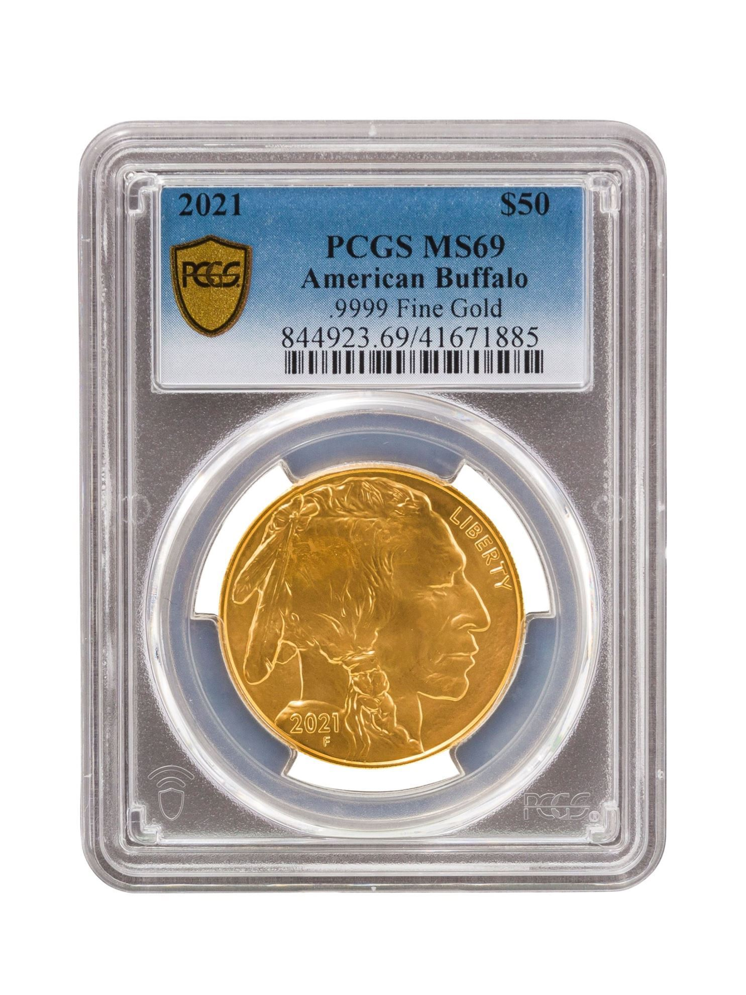 Picture of PCGS 2021 1oz Gold American Buffalo MS69